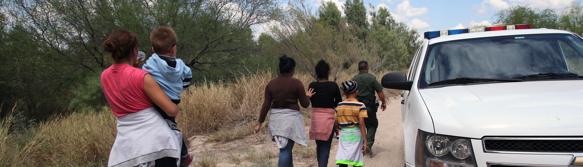 Children and their families at the US border