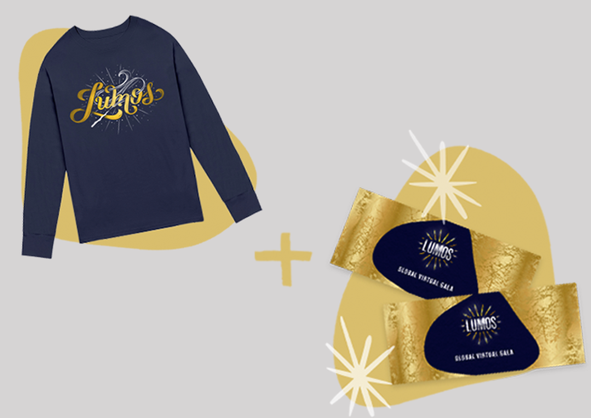 A Lumos t-shirt + some tickets to the global gala
