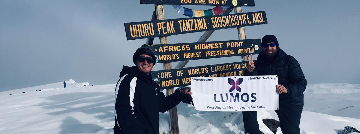 Bryan at the summit of Kilimanjaro