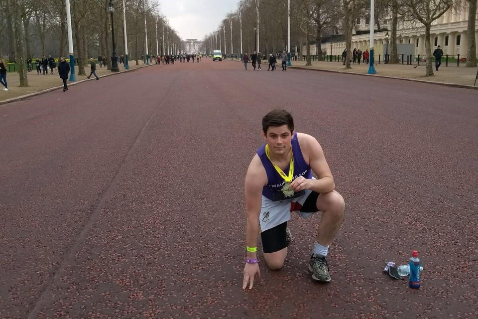 Josh marathon training to fundraise for Lumos