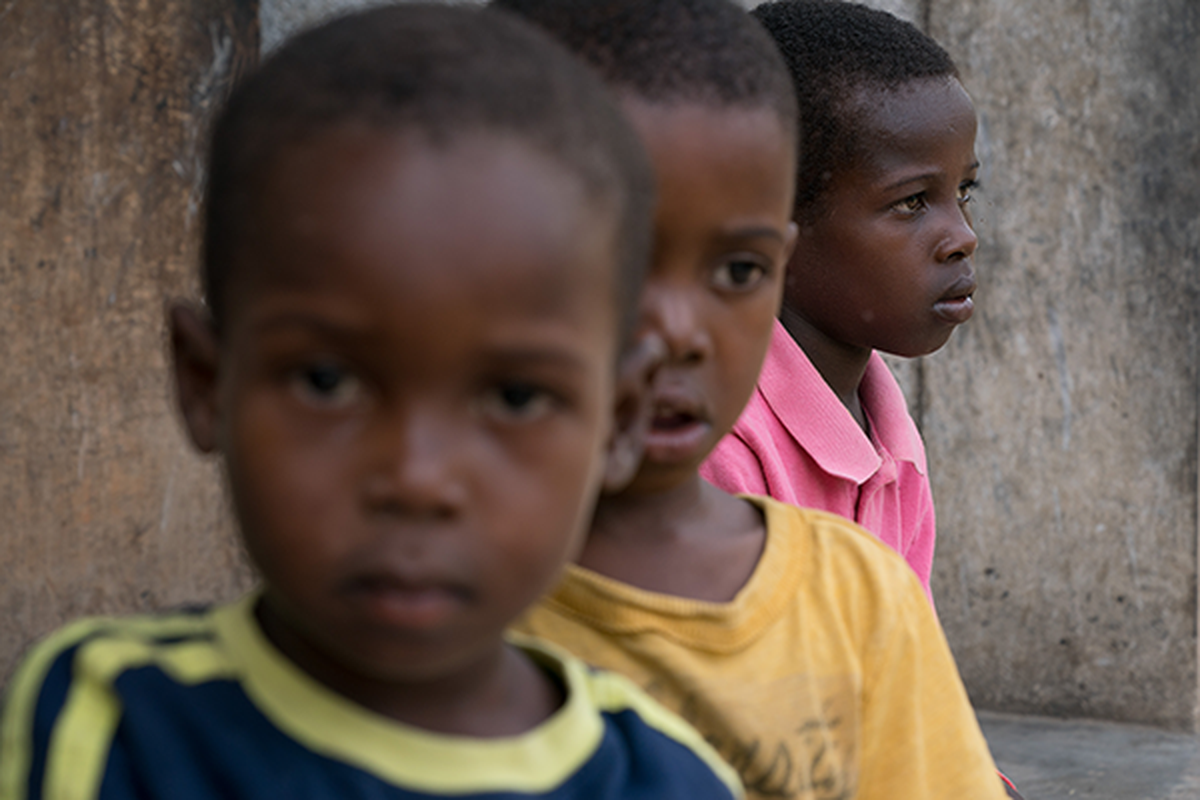 Diego, a child who has lived in an orphanage in Haiti