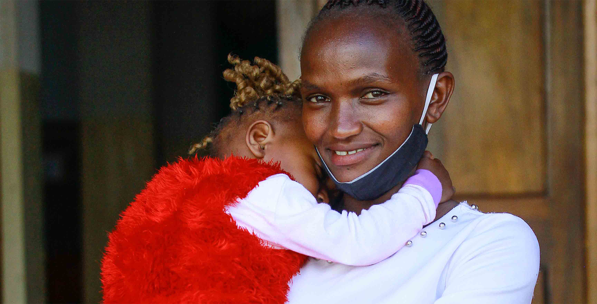 A mother and her child in Kenya