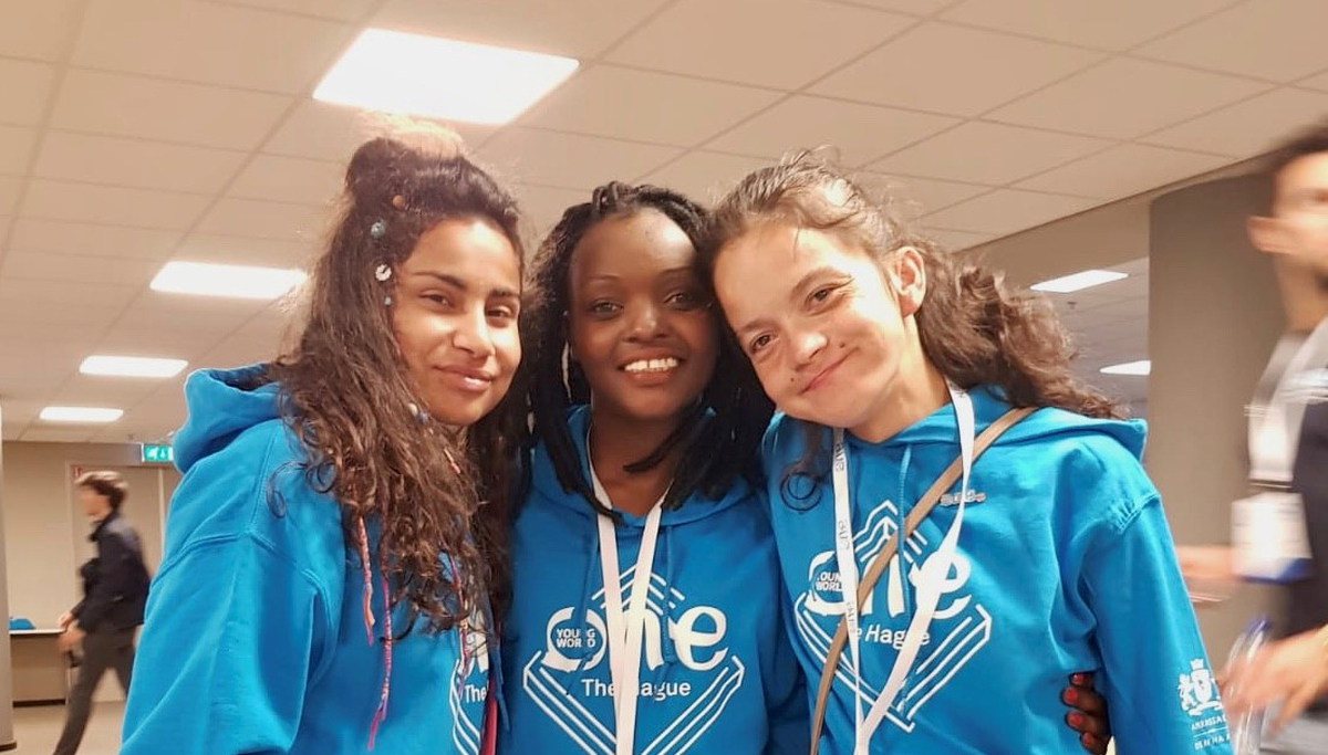 Martina, Mihaela and Ruth are young advocates for Lumos children's charity